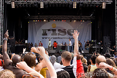 Rise Festival, London. July 2008. Editorial Photo