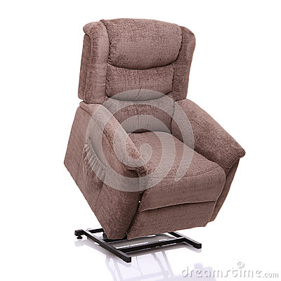 Rise and recline chair, fully lifted.