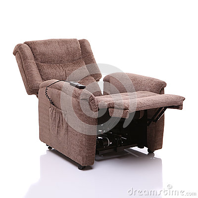 Rise and recline chair, fully reclined.