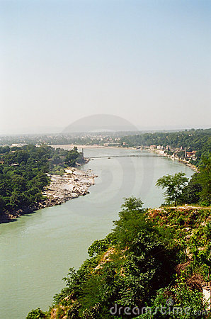 Rishikesh and the Ganges river, India
