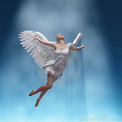 Free Rising Angel Stock Photography - 13881162