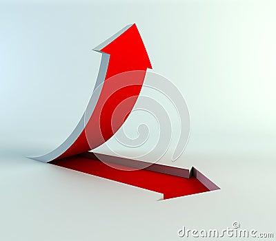 Rising arrow
