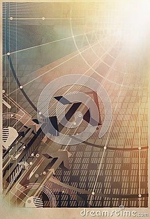 Rising arrows technology concept