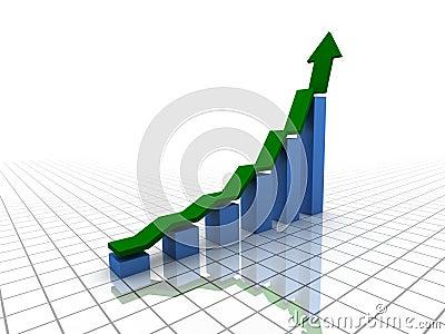 Rising bar graph (XXL)