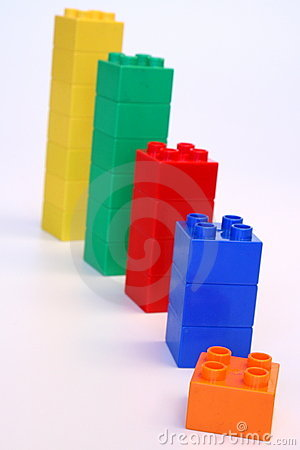 Free Rising Building Blocks Royalty Free Stock Image - 12788916