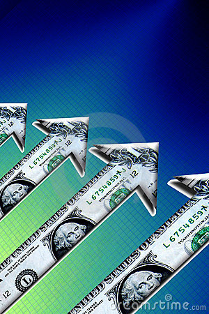 Rising Dollar Money Arrows