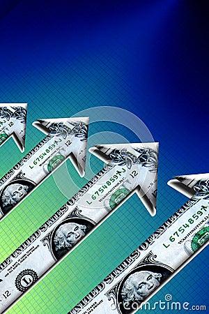 Free Rising Dollar Money Arrows Stock Photography - 11974572