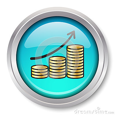 Rising Gold Coins Icon