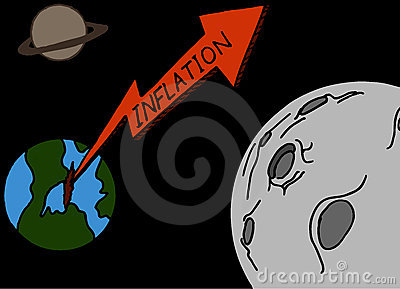 Rising Inflation Rate Illustration