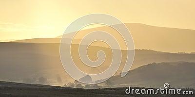 Rising mists, Bowland, Lancashire