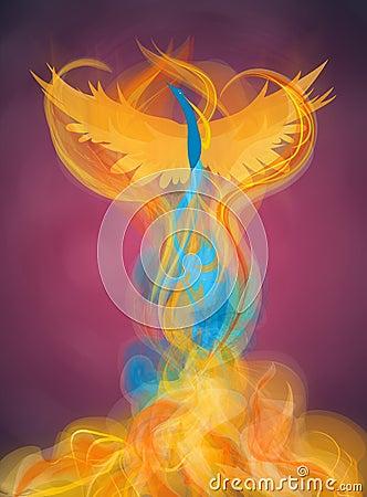 Free Rising Phoenix Illustration Stock Photo - 19589260