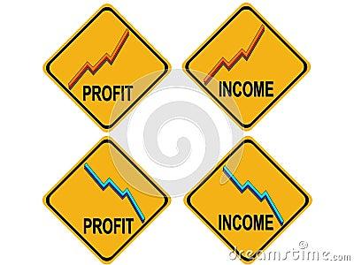 Rising profits falling income warning sign