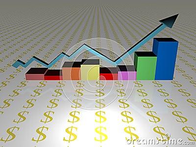 Rising sales chart