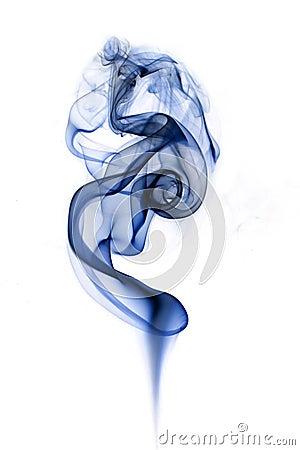 Rising smoke.