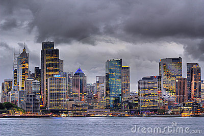 Sydney skyline by storm rising Editorial Image