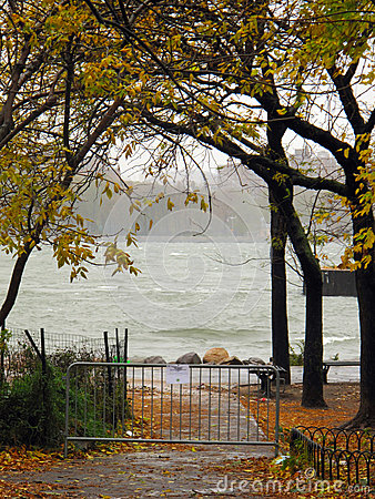 Rising Tide, Hurricane Sandy, Brooklyn, New York Editorial Stock Image
