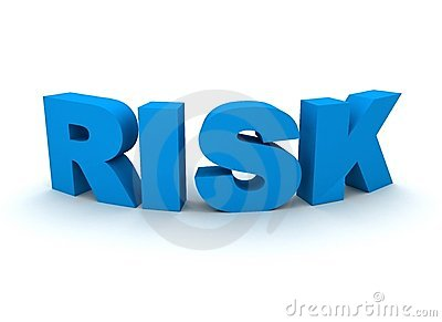 Risk spelled out in blue letters