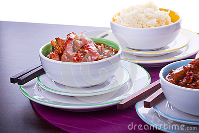Riso cinese e pollo agrodolce