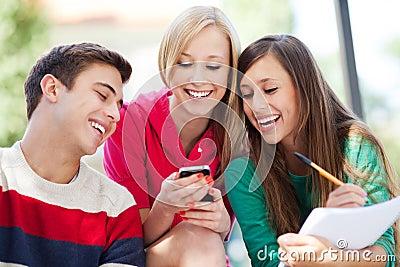 Riso dos amigos