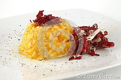 Risotto alla zucca, risotto with pumpkin
