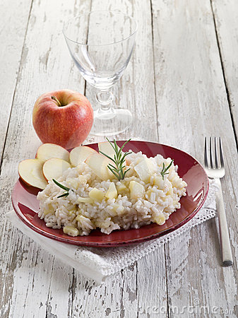 Risotto with apple