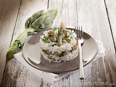 Risotto with artichokes