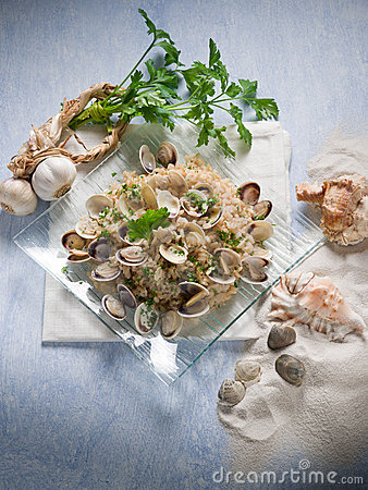 Risotto with clam