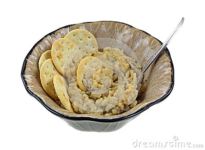 Risotto Crackers In Bowl Spoon