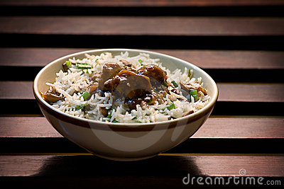Risotto of Rice and mushroom
