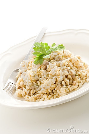 Free Risotto With Italian Meet Royalty Free Stock Photos - 20258198