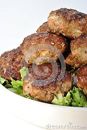 Rissole with organic salad
