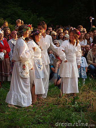Rites of the Night of St. John, Lublin, Poland Editorial Stock Image