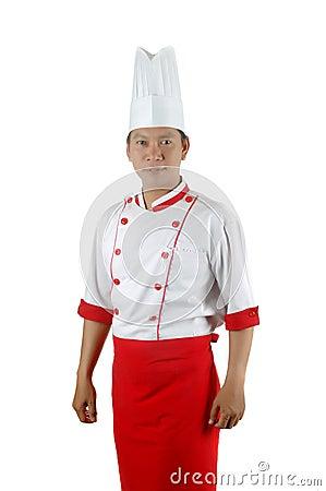 Ritratto asiatico del cuoco unico