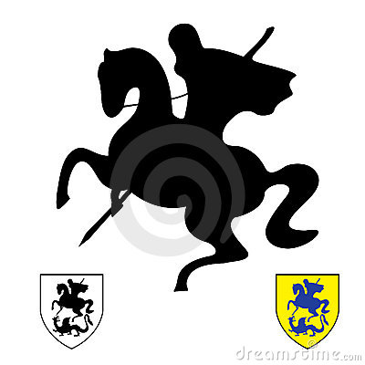 Ritter auf einem Pferd. Heiliges George