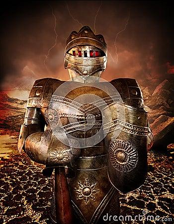 Ritter in der Rüstung
