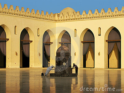 Ritual bath at Al-Hakim Mosque in Cairo, Egypt Editorial Photo