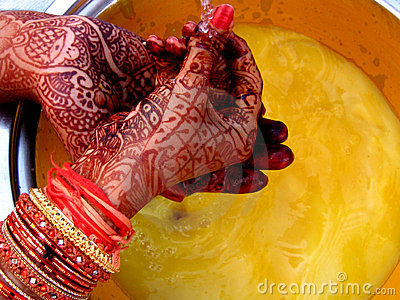 Ritual with Mehendi