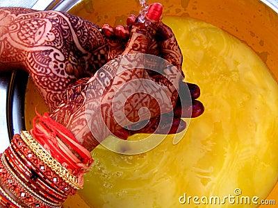 Ritual with Mehendi