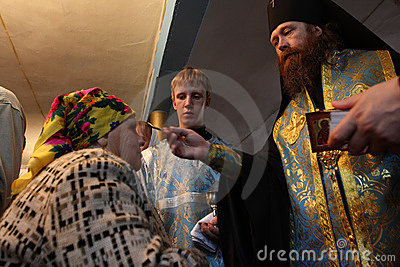Ritual in the orthodox church Editorial Photo
