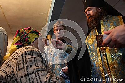 Ritual in the orthodox church Editorial Photo