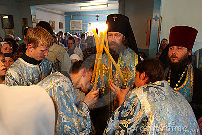 Ritual in the orthodox church Editorial Image