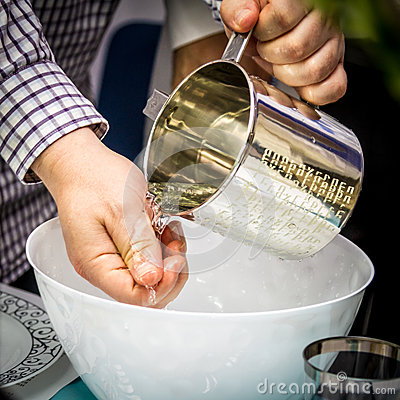 Ritual Washing Of Hands Passover Seder Stock Photo