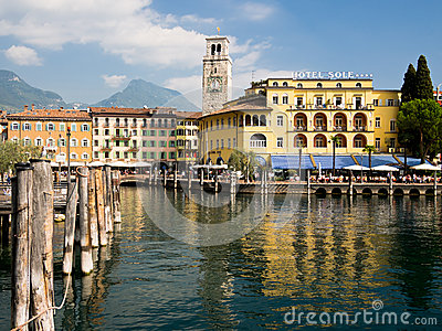 Riva del Garda Lakeside Holiday Resort Italy Editorial Stock Image