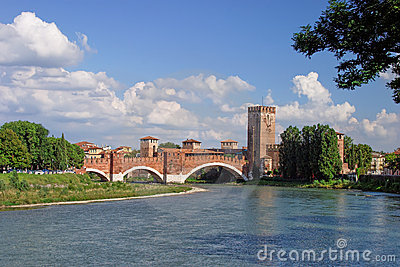 River Adige and Verona castle