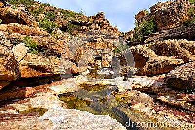 River among amazing rocks