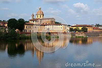 River Arno and church San Frediano in Cestello