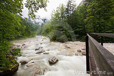 River in Austrian Alps