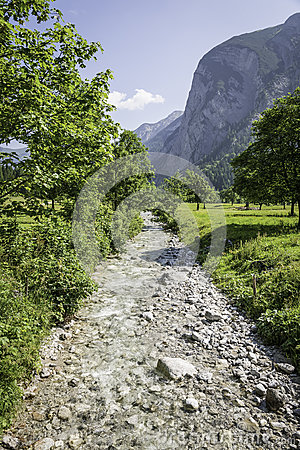 River in Austrian Alps