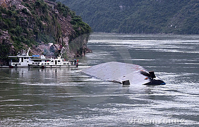 River Barge Accident, Yangtze River, China Travel Editorial Photo
