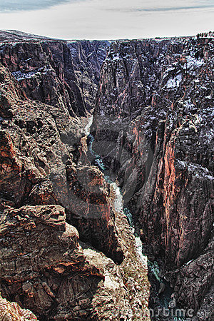 River in Black Canyon of the Gunnison Park, CO